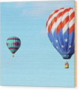 Flag Balloon Wood Print