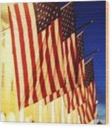 Flag Congress Hall Cape May Nj Wood Print