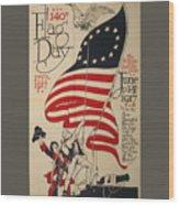 Flag Day 1917 Wood Print
