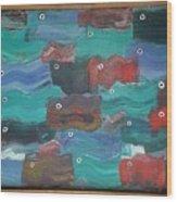 Flag Fish Wood Print