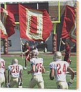 Flag Football Wood Print
