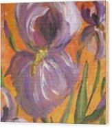 Flag Iris Wood Print