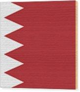 Flag Of Bahrain Wall. Wood Print