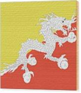 Flag Of Bhutan Wall Wood Print