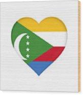 Flag Of  Comoros Heart Wood Print