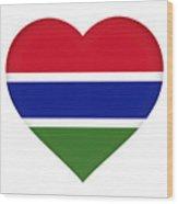 Flag Of Gambia Heart Wood Print