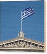 Flag Of Greece  Wood Print