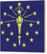 Flag Of Indiana Wood Print
