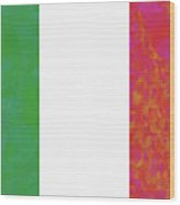 Flag Of Italy Colorful Wood Print