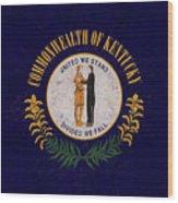 Flag Of Kentucky Grunge Wood Print