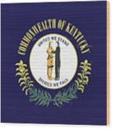Flag Of Kentucky Wall Wood Print