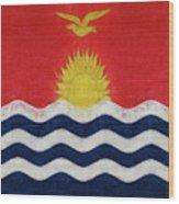 Flag Of Kiribati Texture Wood Print