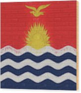 Flag Of Kiribati Wall Wood Print