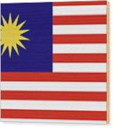 Flag Of Malaysia. Wood Print