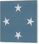 Flag Of Micronesia Wall Wood Print