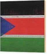 Flag Of  South Sudan Grunge Wood Print