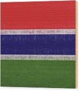 Flag Of The Gambia Grunge. Wood Print