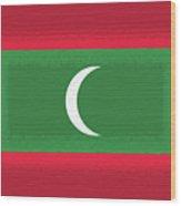 Flag Of The Maldives Wall. Wood Print