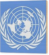 Flag Of The United Nations Wood Print