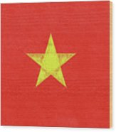 Flag Of Vietnam Grunge Wood Print