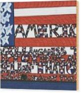 Flag One Wood Print