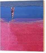 Flag Reflection In Water 1 Casa Grande Arizona 2005 Wood Print