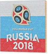 Flag Russia World Cup Wood Print