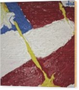 Flag Section Wood Print