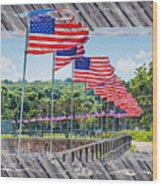 Flag Walk 2 Wood Print