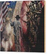 Flag Wood Print by Wayne Gill