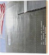 Flag Wwii Aircraft Wood Print