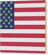 Flag1 Wood Print