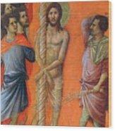 Flagellation Of Christ Fragment 1311 Wood Print
