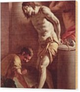 Flagellation Of Christ Wood Print by Pietro Bardellini