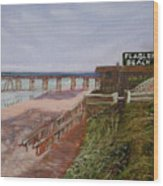 Flagler Beach Pier 1 Wood Print