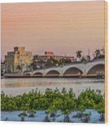 Flagler Bridge In The Evening I Wood Print