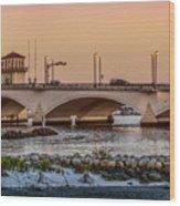 Flagler Bridge In The Evening IIi Wood Print