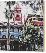 Flagler College View Wood Print