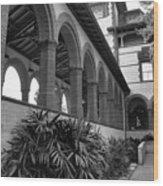 Flagler College Walkway Wood Print
