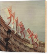 Flags Of London Wood Print
