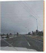 Flagstaff Traffic Wood Print