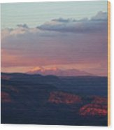 Flagstaff's San Francisco Peaks Snowy Sunset Wood Print