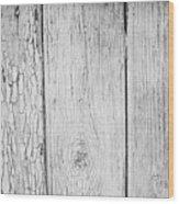 Flaking Grey Wood Paint Wood Print