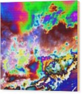 Flamboyant Cloudscape Wood Print