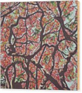 Flamboyants In The Sky Wood Print