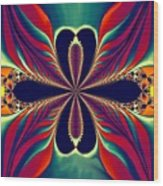 Flame Blossom Wood Print