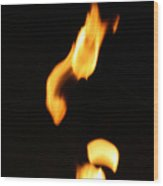 Flame Face Wood Print