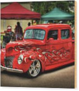 Flame Hot Truck Wood Print