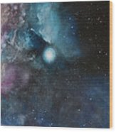 Flame Nebula Ngc 2024 - Triptyc Right Panel Wood Print