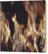 Flame Nymphs Wood Print